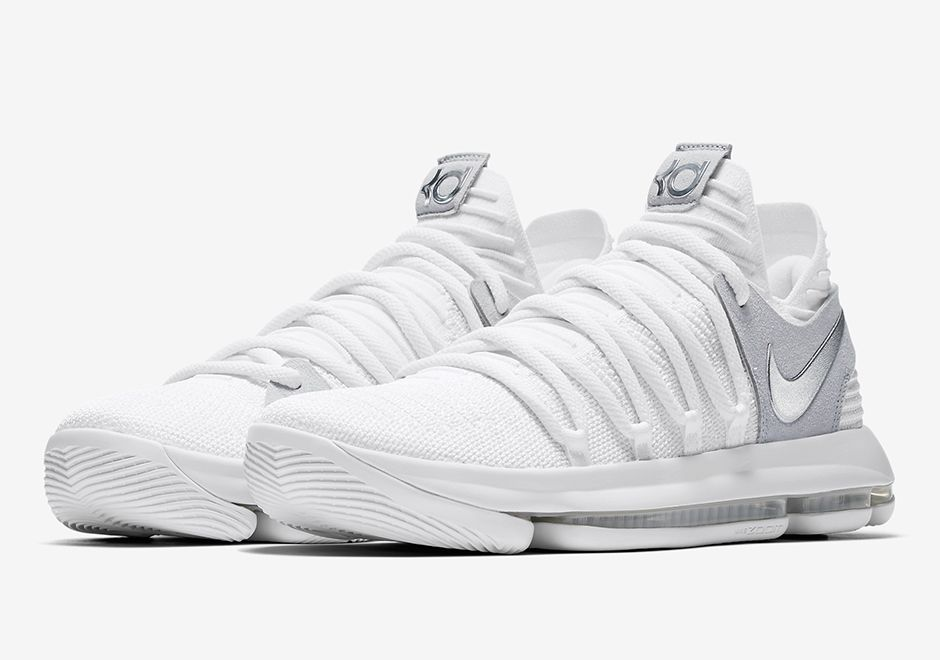 brand new 50cc6 98b32 The Nike KD 10 Still KD (Style Code  897815-100) will release June 1st, 2017  for  150 USD featuring a White Chrome upper just in time for the NBA Finals.