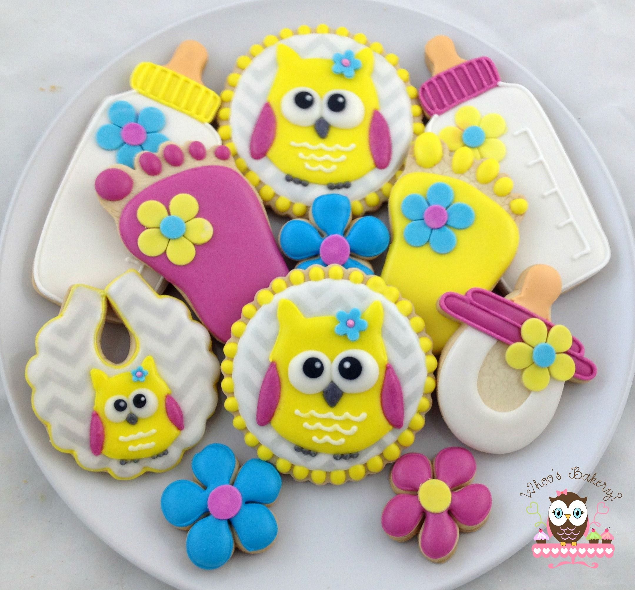 Owl Decorated Cookies Owl Baby Shower Cookies Galletas Bebcs Mundo Infantil