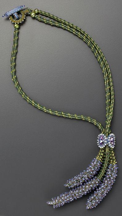 5579edd4b70a Bouquet de Lavande Beaded Necklace by Laura McCabe