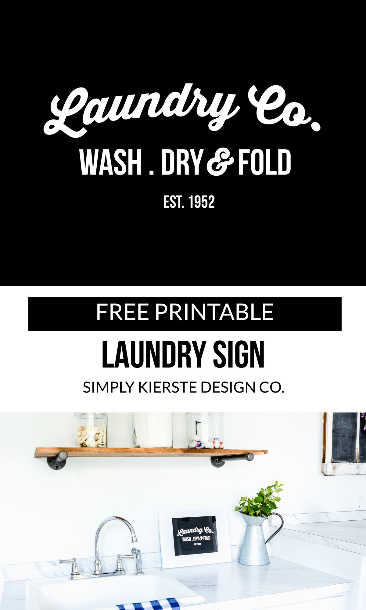 Free Printable Laundry Sign