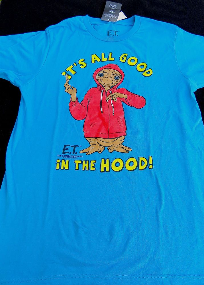 7fb7247d E.T. The Extraterrestrial T-Shirt Man It's All Good In The Hood New M XL Or  XXL