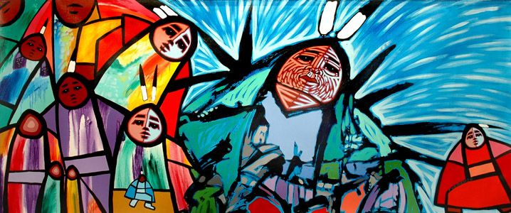First Nations...amazing color | Fine art painting, Art ...