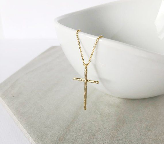 Gold Cross Necklace Dainty Jewelry Gifts For Her Religious Gift Women Birthday