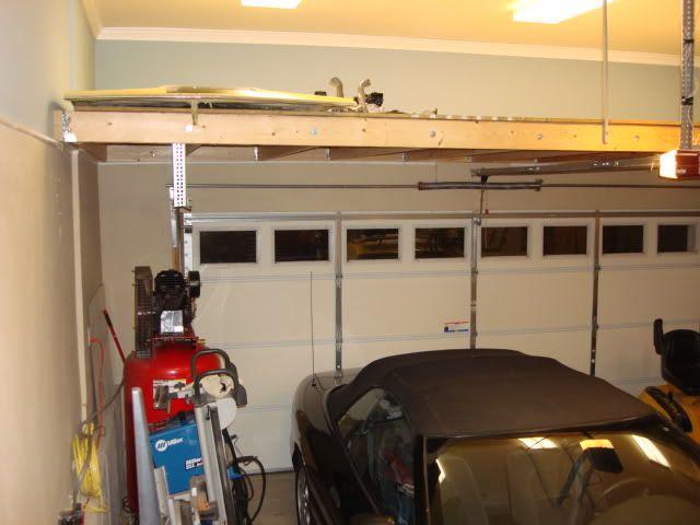 Storage Loft Above Garage Door The Garage Journal Board Diy