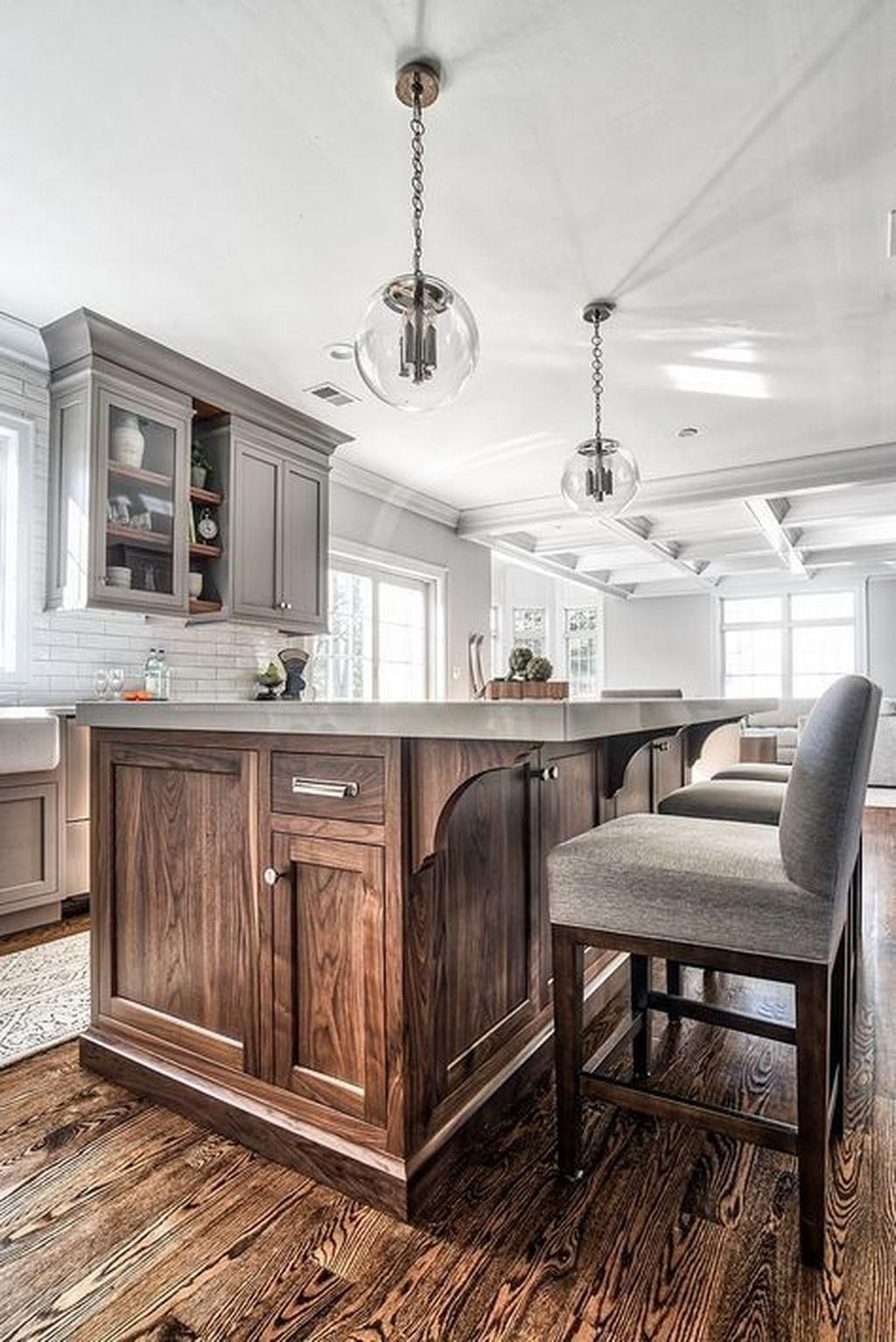 46 Amazing Painted Kitchen Cabinets Greykitchen Painting Kitchen Cabinets Grey Kitchen Designs Kitchen Remodel
