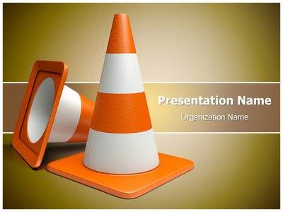 Road Cones Vlc Powerpoint Template Is One Of The Best Powerpoint