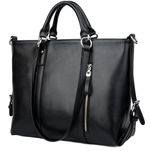 YALUXE Women's Urban Style 3-Way Leather Work Tote Should... | If ...