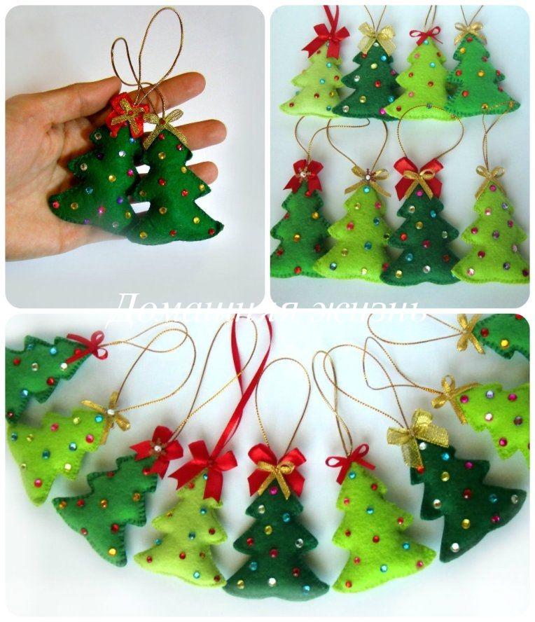 Beaded Felt Christmas Tree Ornaments Mi Paswotk Pinterest Felt