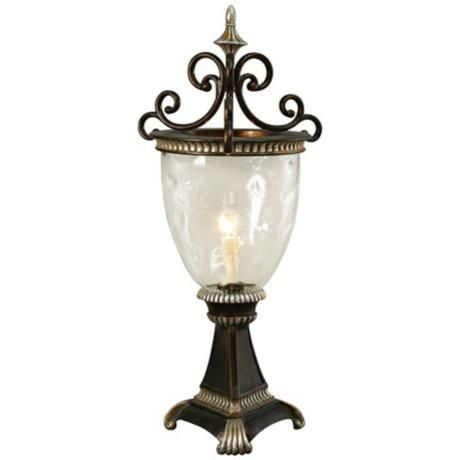 Raschella Collection Antique Cherry Hurricane Lamp
