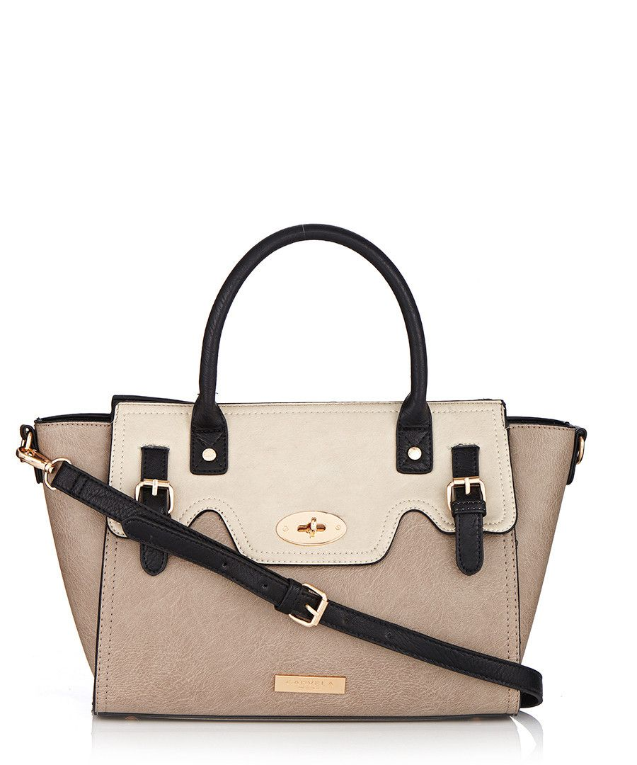 Ethel grey buckle lock shoulder bag by Carvela Kurt Geiger on  secretsales.com 92fdd954731db