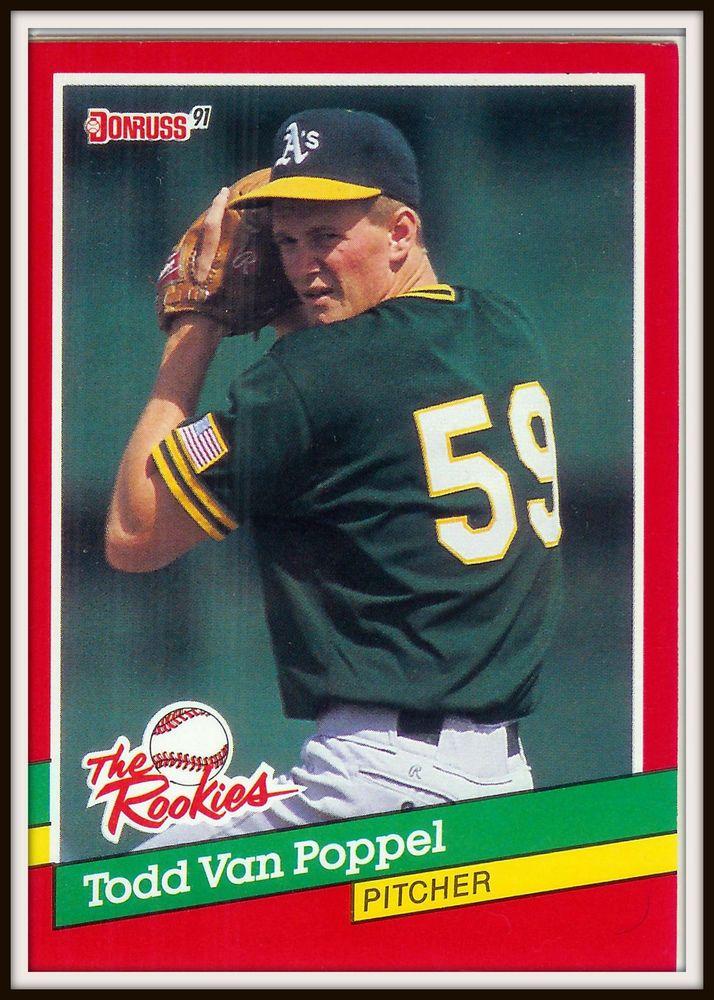 """1991 DONRUSS 7 Todd Van Poppel Angels """"The Rookies"""