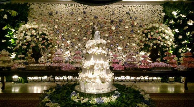 Decoração branco com detalhes coloridos - Casamento - wedding