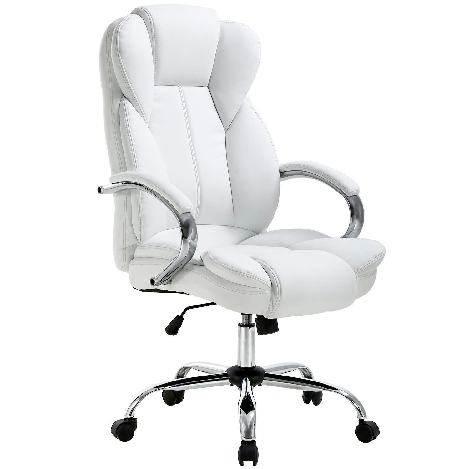 Ergonomic Office Chair Desk Chair Pu Leather Computer Chair