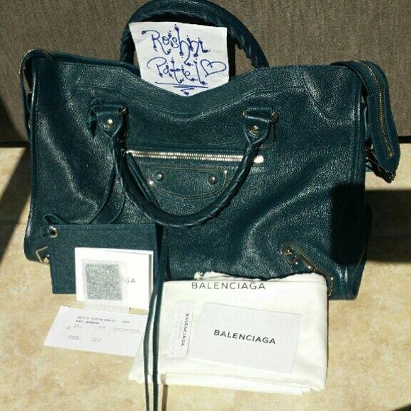 71b5a5e146 Balenciaga Metallic Edge City bag purse teal Lower price elsewhere. I so  love this dark