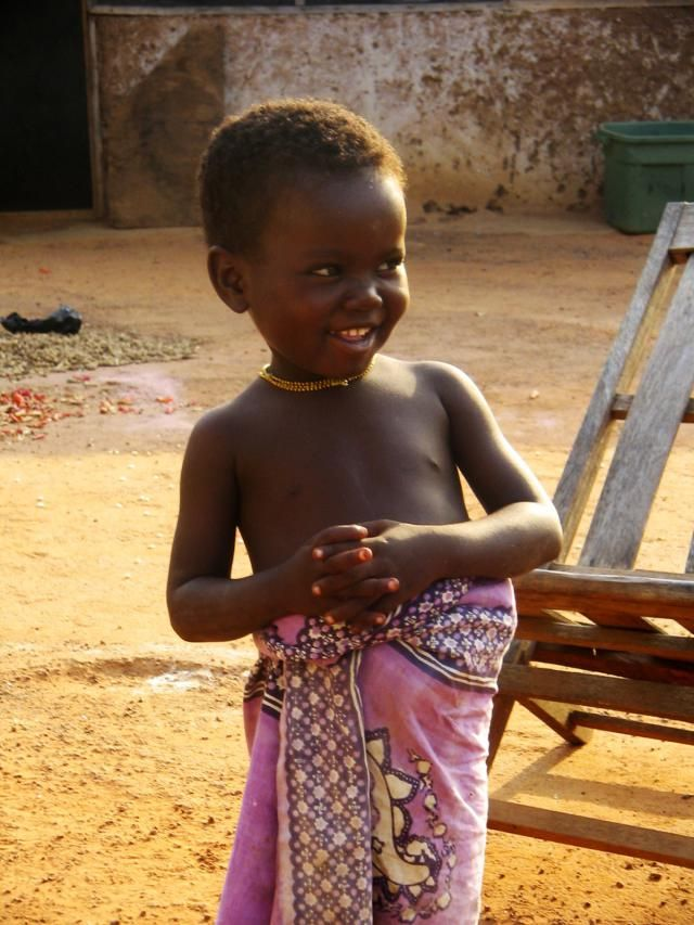 Pictures of Africa: Girl in Pink, Bunbonayili village, Ghana