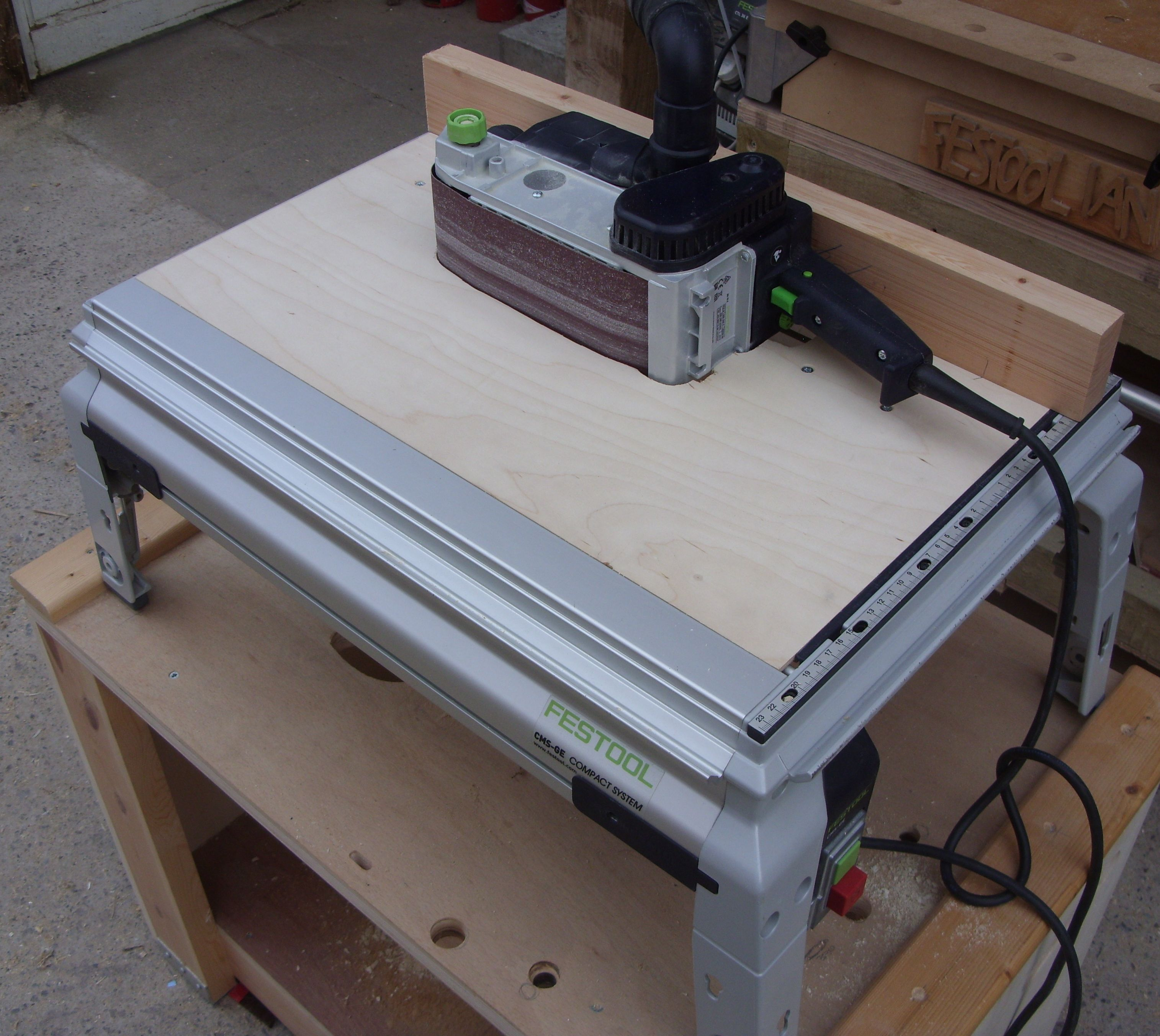 Http Festoolownersgroup Com Festool Jigs Tool Enhancements Cms Modules Belt Sander Jigsaw Belt Sander Festool Festool Cms