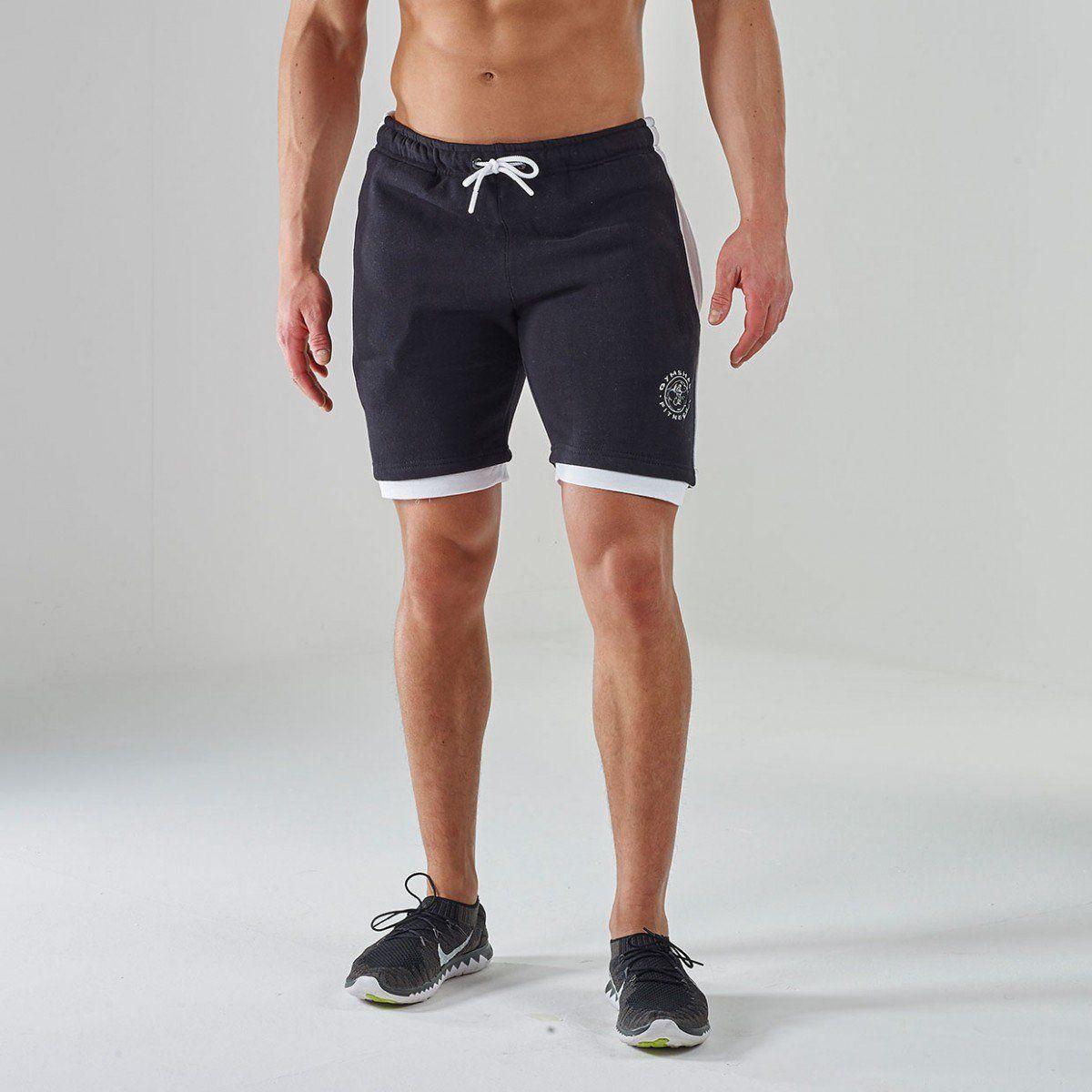 Luxe Legacy Fitness Shorts | Gym Shorts | Black / White | Gymshark