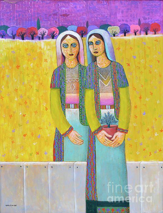 Original Artwork by Palestinian artist Nabil Anani, #Sisters ...