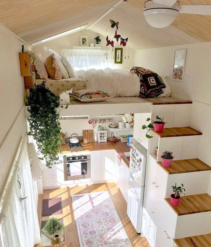 The cutest tiny home ever! Look at that! Watcha think? Yay or nah? Photo by … #decoratehome