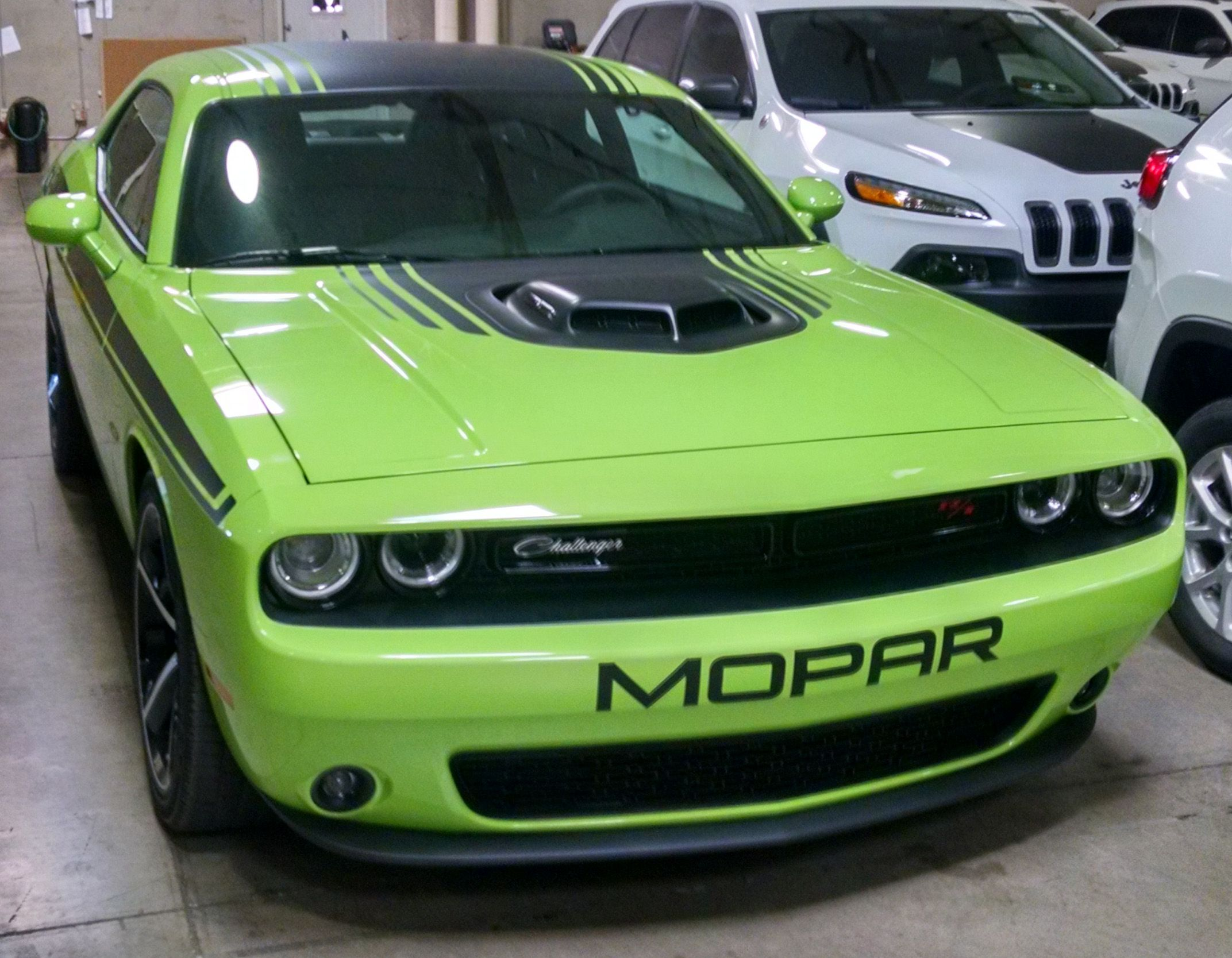 Dodge challenger 2015 front bumper text