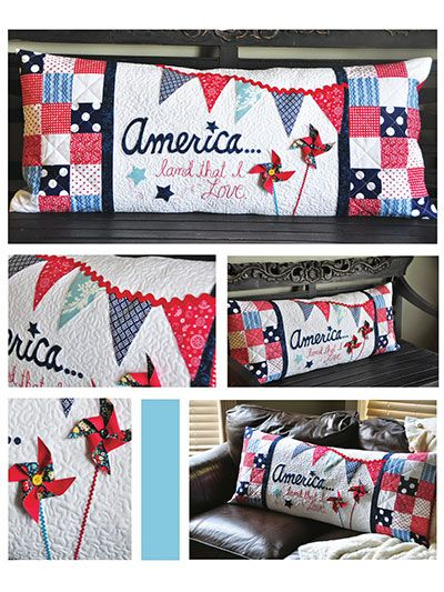 American Flag Pillow Sewing Pattern And More Patriotic Patterns Bench Pillows Pillow Pattern Holiday Pillows Covers