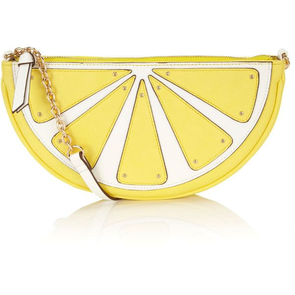 Accessorize Lemon Across Body Bag ($44) ❤ liked on Polyvore featuring bags, handbags, clutches, purses, yellow, accessories, chain purse, yellow clutches, vegan handbags and chain crossbody