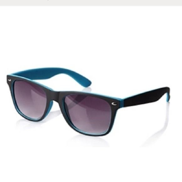 22968e3b91 Forever 21 Wayfarer Sunglasses Blue Black A pair of two-tone wayfarer  sunglasses featuring graded lenses. Find this Pin and more ...