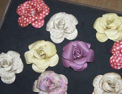 Paper Rose Tutorial Just Need A 5 Petal Flower Punch Diycraft