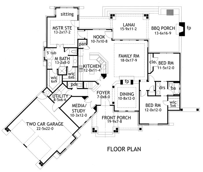 3 Bedroom Ranch Floor Plan 2 5 Bath 2091 Sq Ft Home Tuscan House Plans Cottage Style House Plans Craftsman Style House Plans