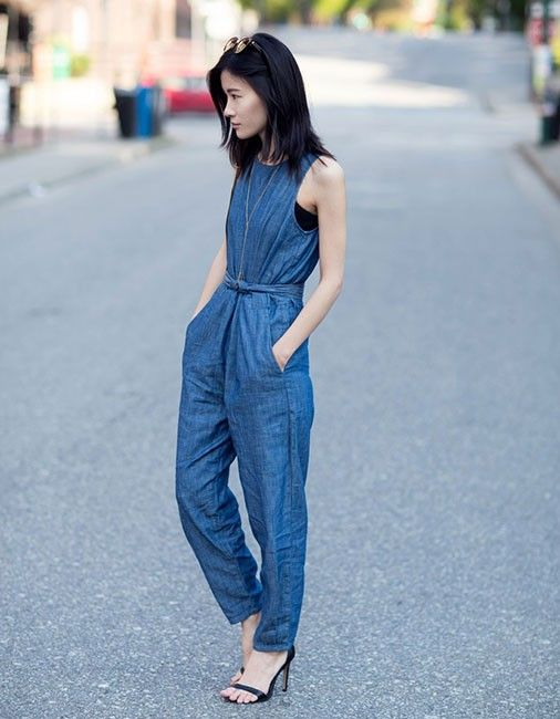a3bffdb3ee0 The most fuss-free way to pull off a Canadian tuxedo is to go for the  all-in-one denim jumpsuit. It s foolproof.Click through to shop the look.