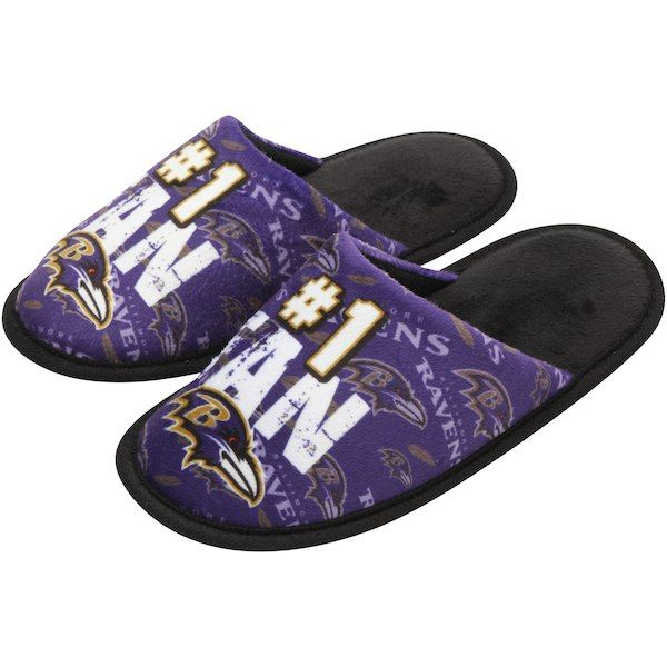 7194a45488a Baltimore Ravens Youth Scuff Slide Slippers  BaltimoreRavens ...