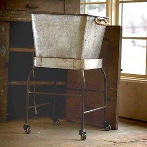 Vintage Wash Tub Stand Vintage Wash Tub Rolling Wash Tub