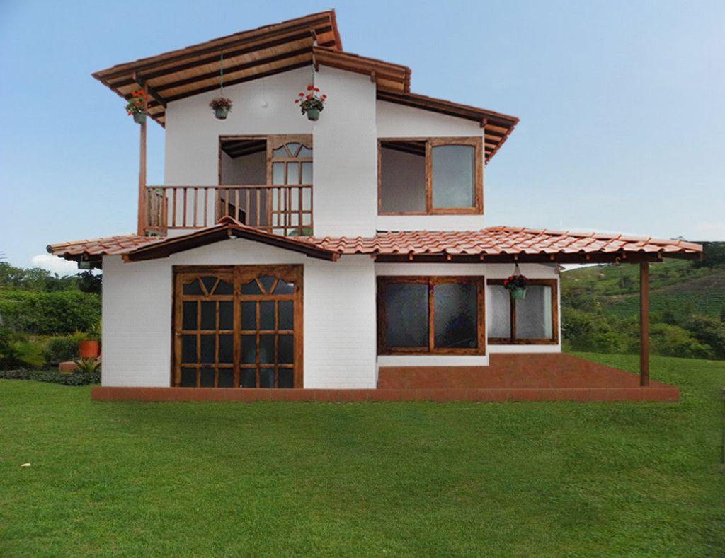 Resultado de imagen para casas prefabricadas medellin tipo chalet fincas pinterest house - Construccion de casa prefabricadas ...