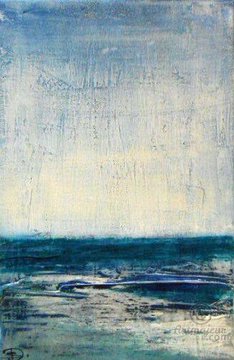 air de mer peinture 22x33 cm par sophie duplain paysage marin en abstraction huile et. Black Bedroom Furniture Sets. Home Design Ideas