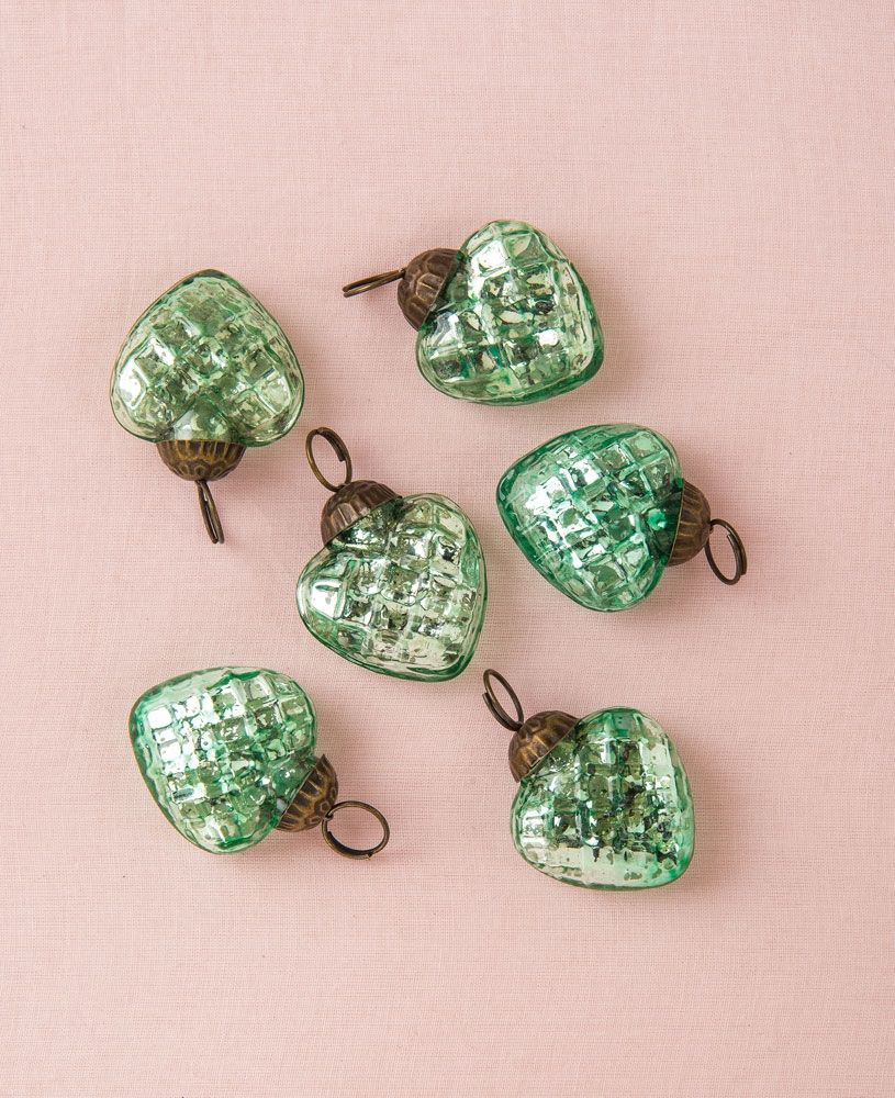 Mini Ornament Set - Wholesale Vintage Green Mercury Glass ...