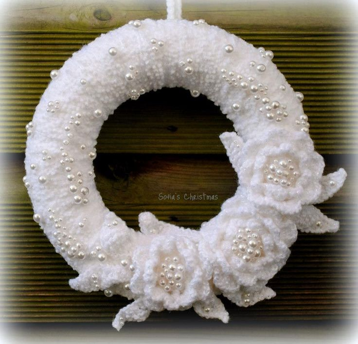 Crochet Christmas Wreath Crochet Time Pinterest Crochet