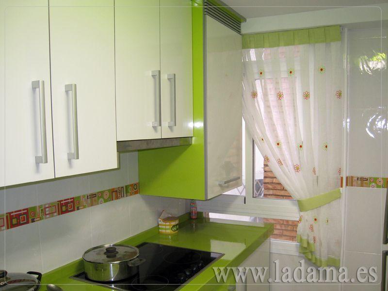 telas para estores de cocina Cortina de Cocina para ventana - cortinas para ventanas
