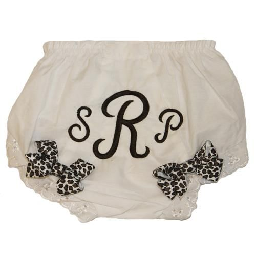 Zilly Bean Brown Leopard Print Initial Bloomers. Zilly Bean Brown Leopard Print Initial Bloomers. See More Diaper Covers at http://www.ourgreatshop.com/Diaper-Covers-C205.aspx