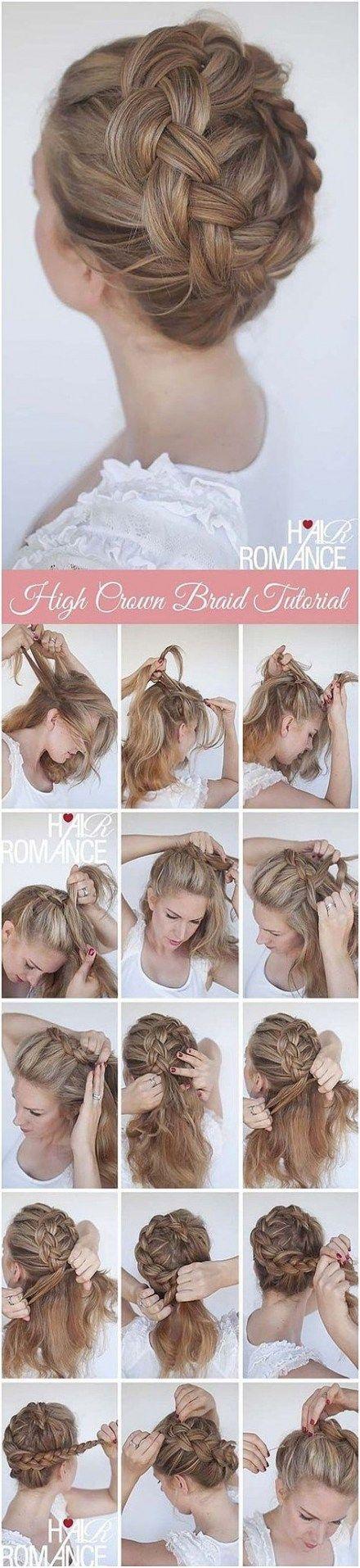 70 Ideas Braids Crown Formal | Hair braid crown tutorial ...