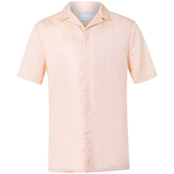 Topman Premium Pink Revere Collar Shirt 46 Liked On
