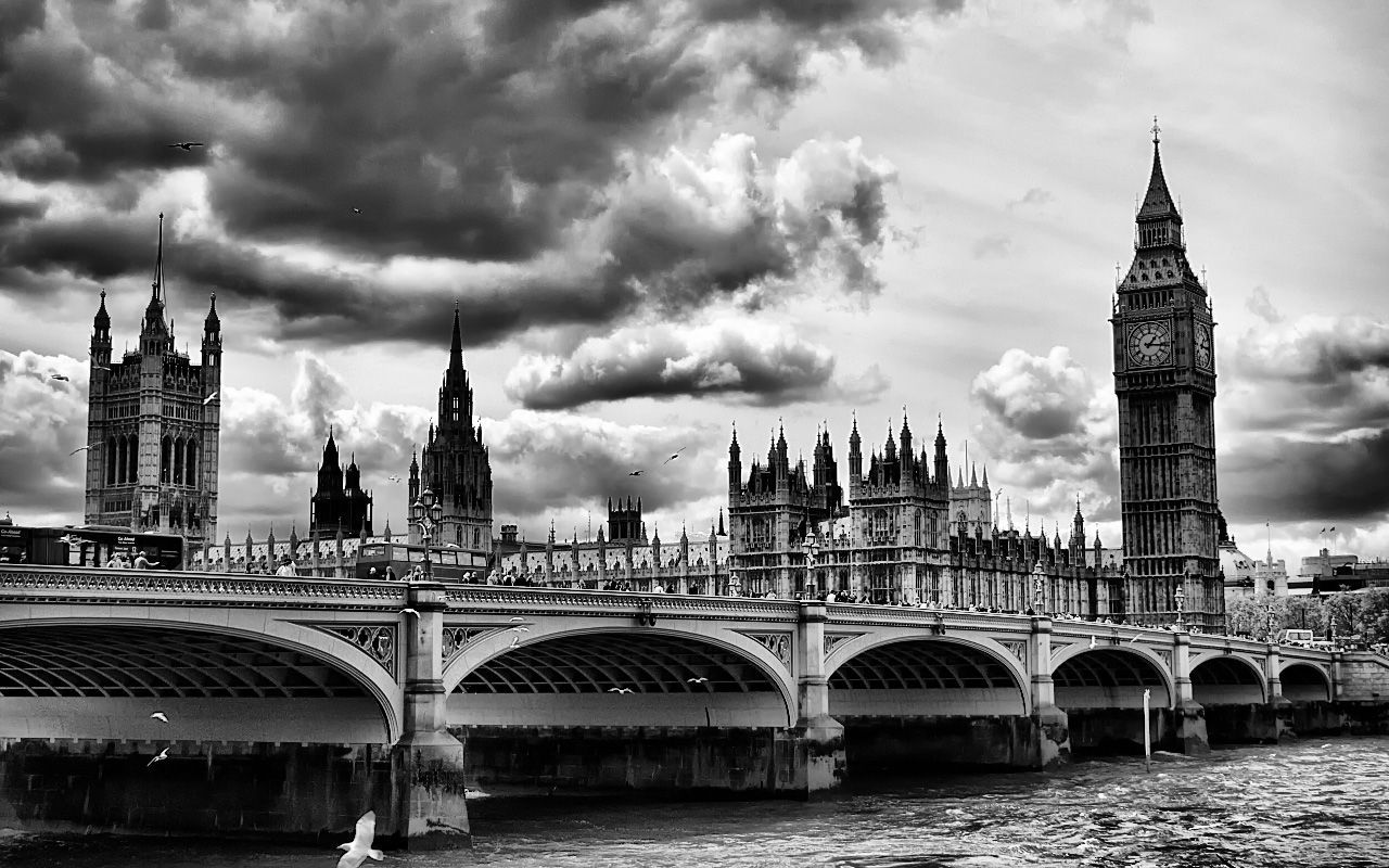 London Background Black And White Photography #4865