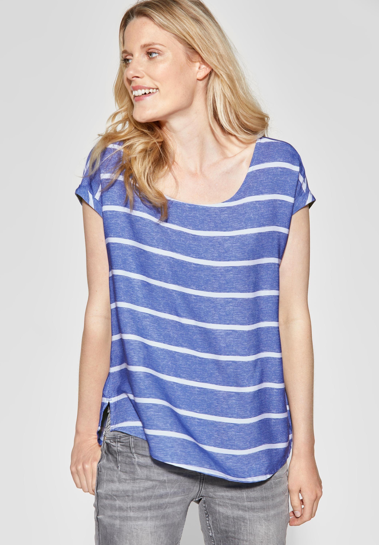 CECIL   Melange Streifen Shirt in Blouse Blue   Blaue bluse ...