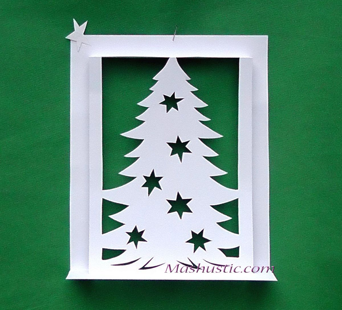 Christmas tree pop up card making | Mashustic.com | Pop up cards to ...