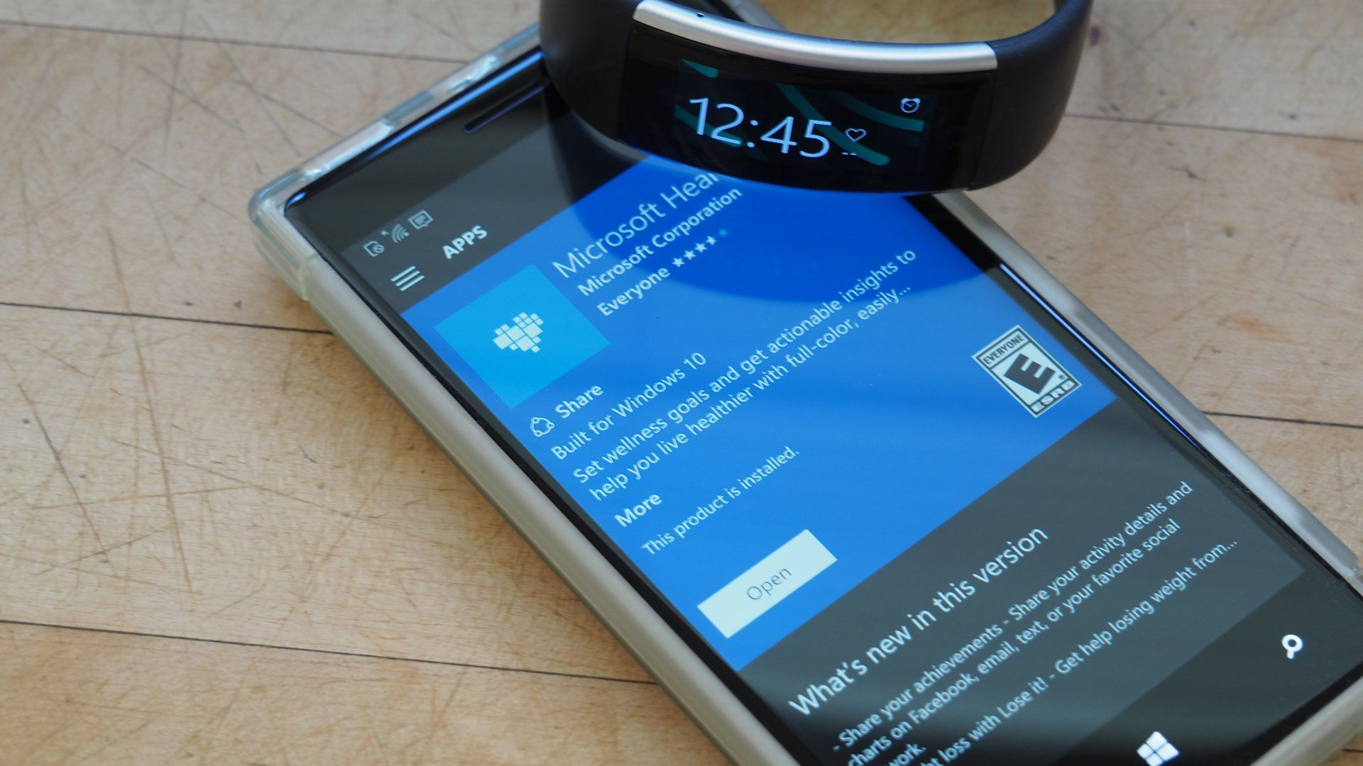 Microsoft's fitness solutions, specifically the Health app