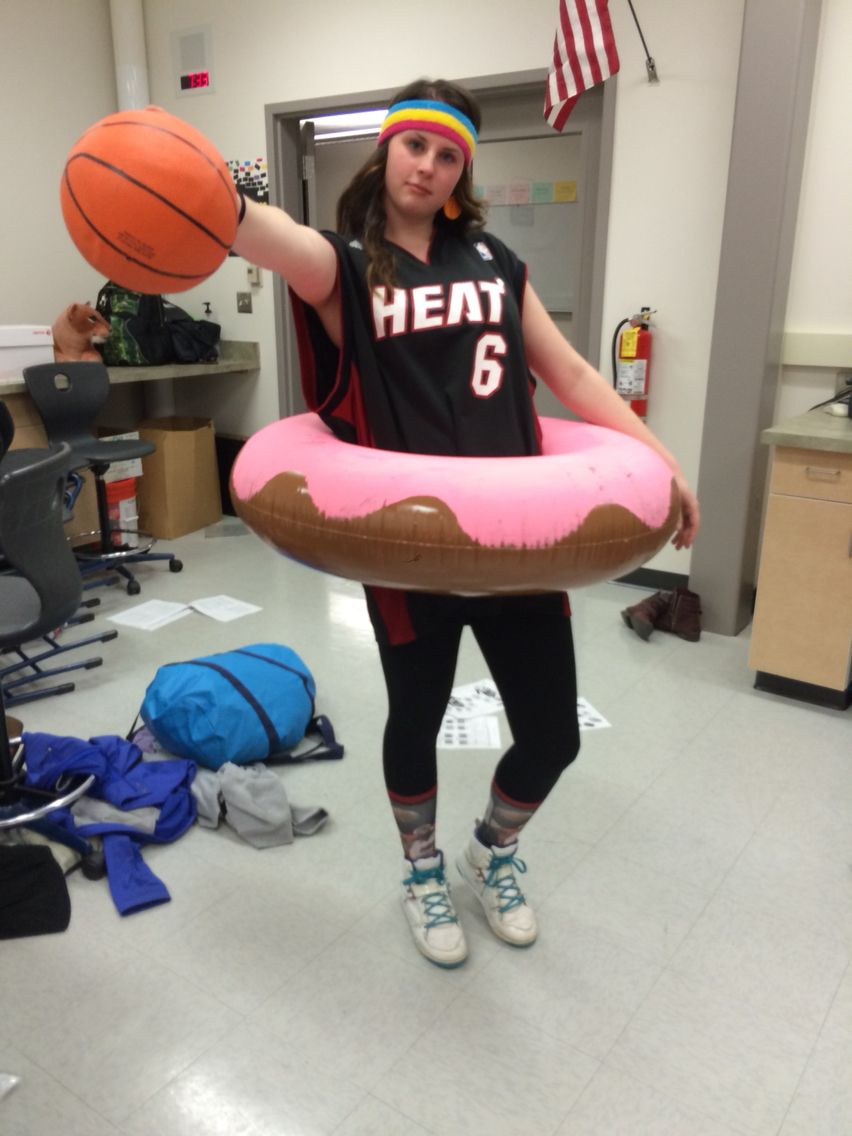 dunkin donut costume play on words costume halloween dunkindonut baller