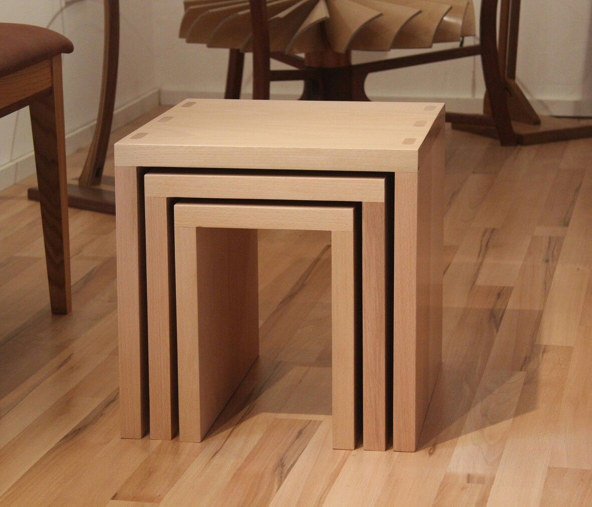 Beech nest of tables david smith furniture pinterest tables beech nest of tables watchthetrailerfo