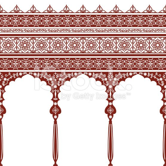 Mehndi Arches And Borders Stock Vector Art 16195310