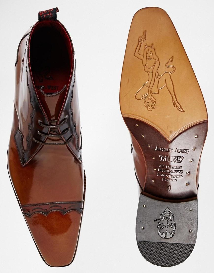 Jeffery West | Jeffery West Brogue Short Boots at ASOS