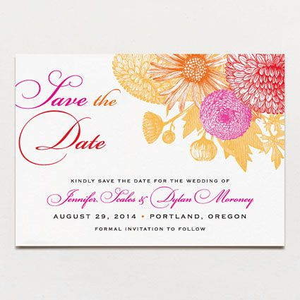 pretty floral save the dates idea paint design my own cards have