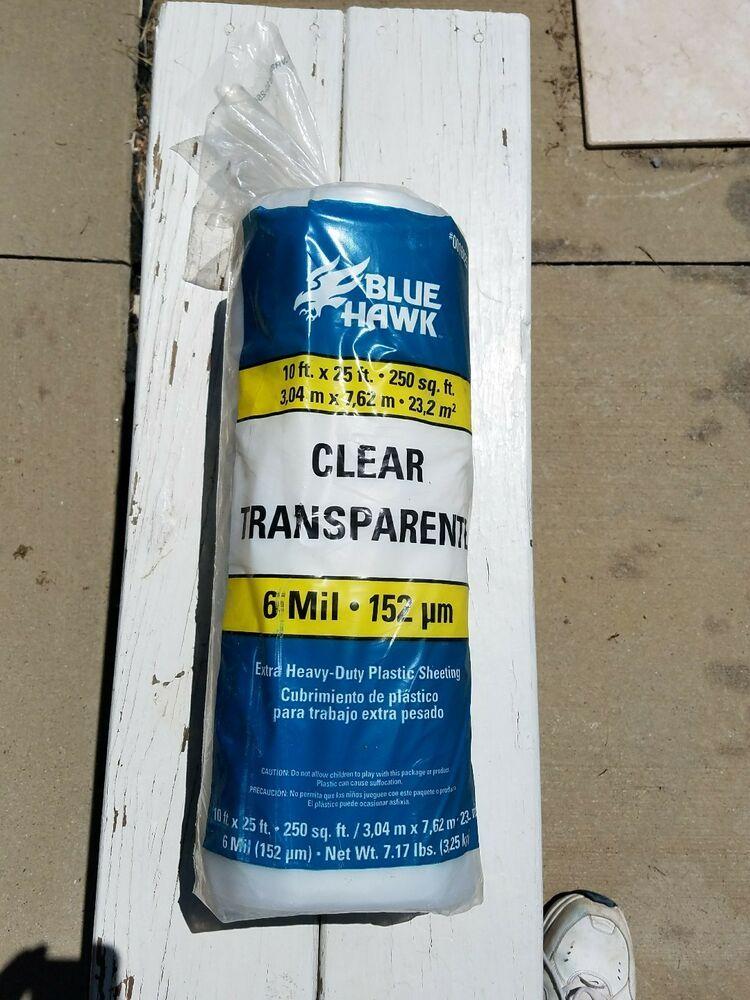 Ebay Sponsored Blue Hawk Clear Sheeting Extra Heavy Duty Plastic Film 10 X 25 Ft 6 Mil Thick Plastic Film Plastic Sheets Plastic